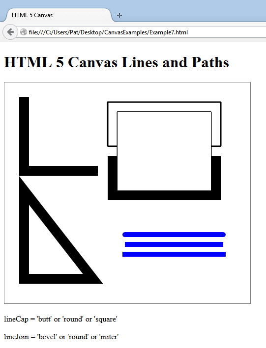 HTML5 Canvas Lines paths and joins