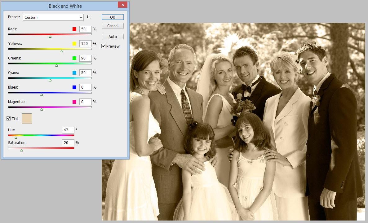 Photoshop Sepia