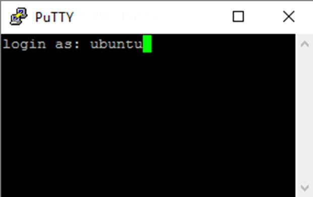 PuTTY Ubuntu Login