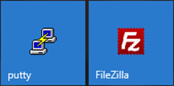 PuTTY and FileZilla