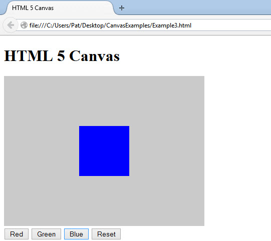 HTML5 Basic Canvas