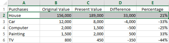 Excel Condition 01