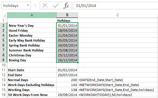 Excel Dates Functions 3