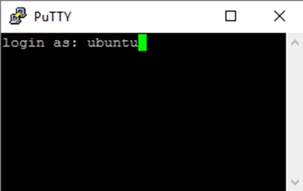 PuTTY Ubuntu Login