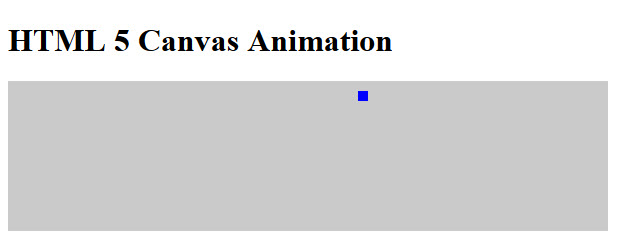 HTML 5 Canvas Animation 1