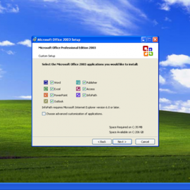 Windows XP Office 2003 Install