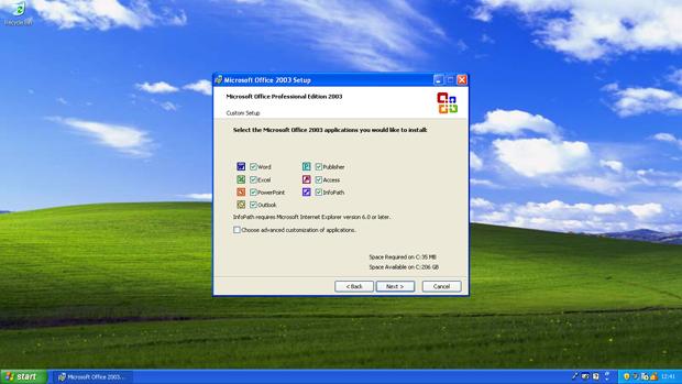 Windows XP Office 2003 Install