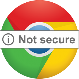 Chrome will show 'Not Secure' warning for HTTP forms