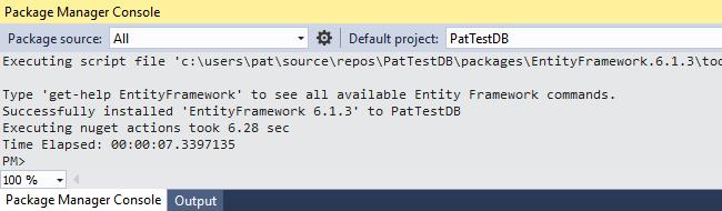 Entity Framework Code First Example - Pat Howe's Blog