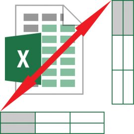 Convert or flip data between rows and columns in Excel