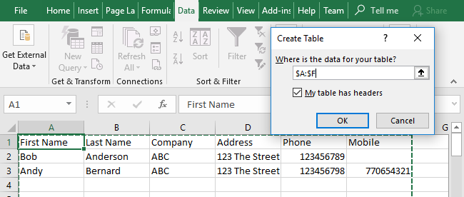 Excel Data Consolidation Example 05