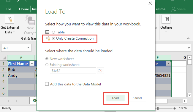 Excel Data Consolidation Example 08