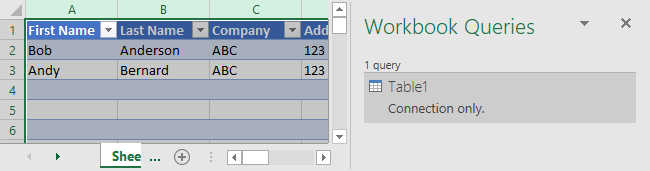 Excel Data Consolidation Example 09