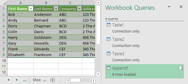Excel Data Consolidation Example 15