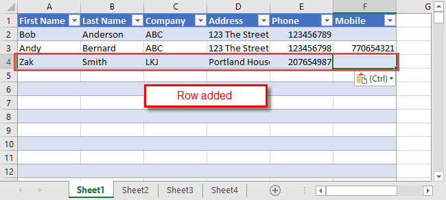 Excel Data Consolidation Example 16