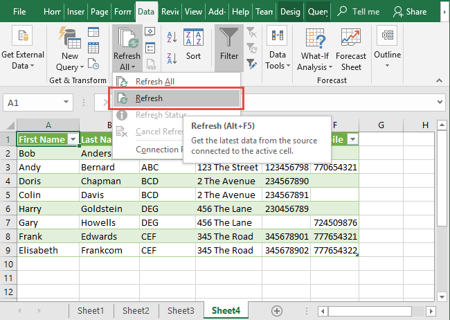 Excel Data Consolidation Example 19