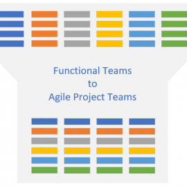functional teams to agile project teams