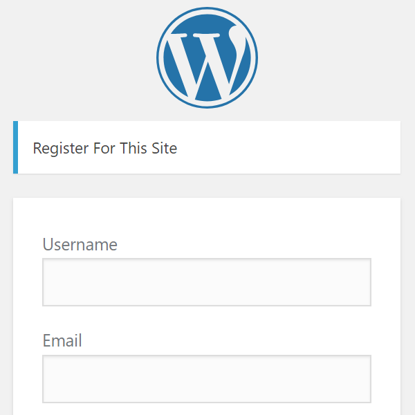 Site Registration