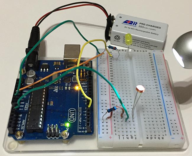 Arduino Light Sensor Off