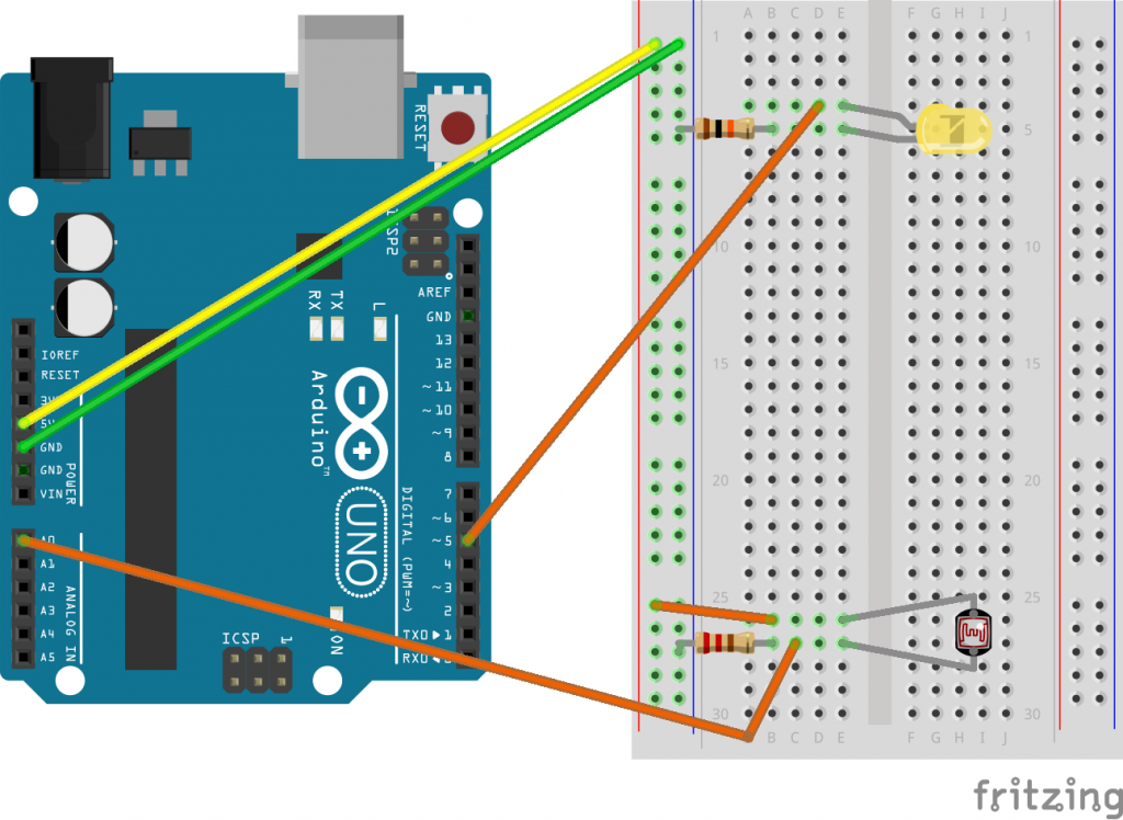 Arduino light sensor and illumination example - Pat Howe's Blog