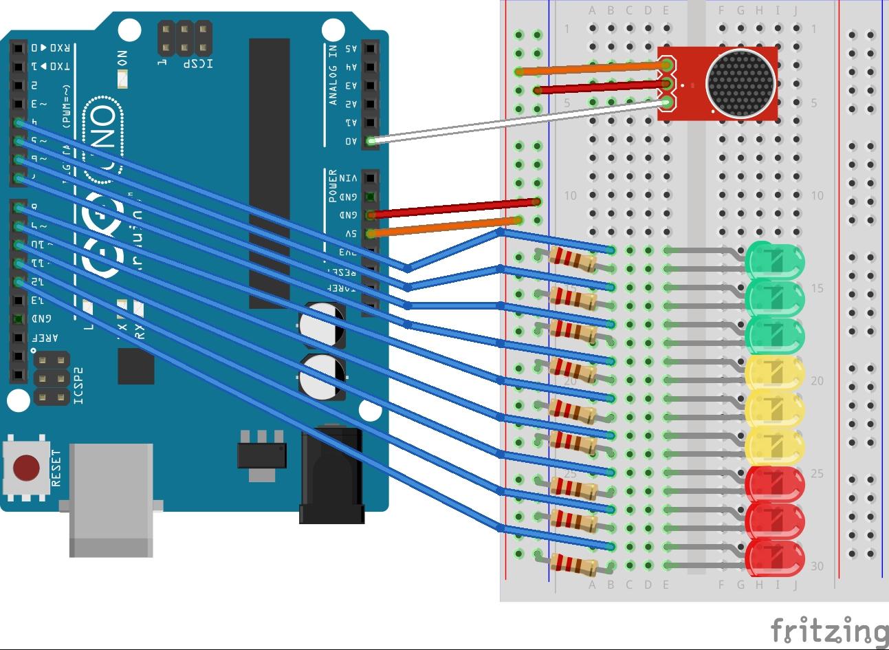 Arduino Sound Sensor Diagram