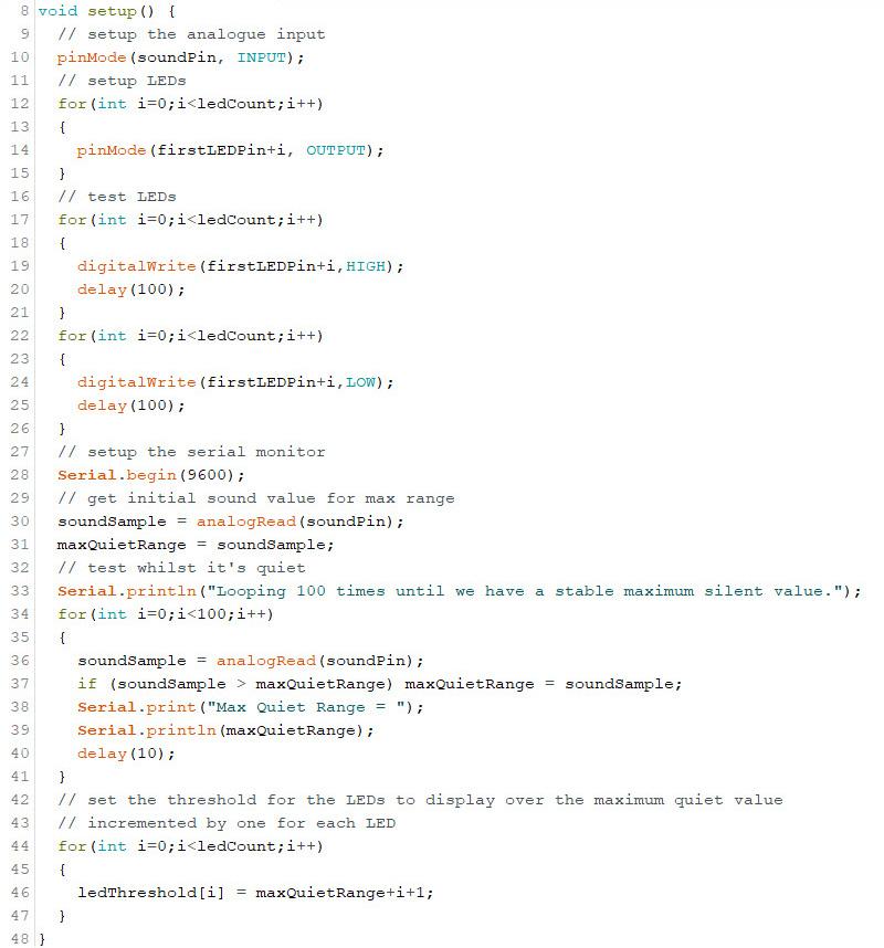 Arduino Sound Sensor Code 2