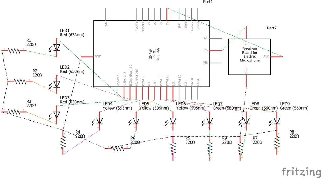Arduino Sound Sensor Schematic