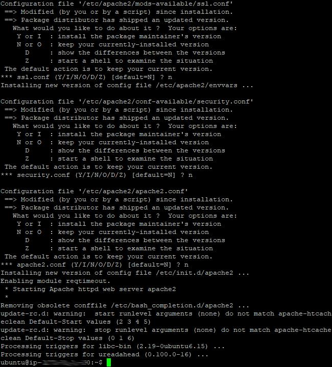 Apache2 install 2
