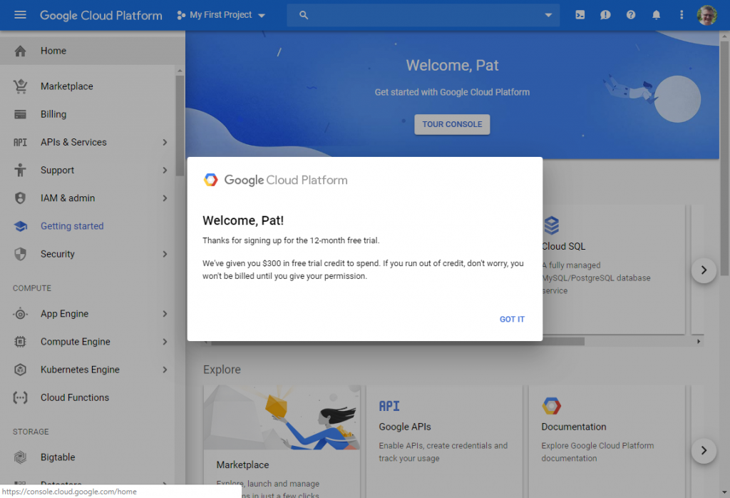 Get a free Linux server with Google Cloud Platform - Pat