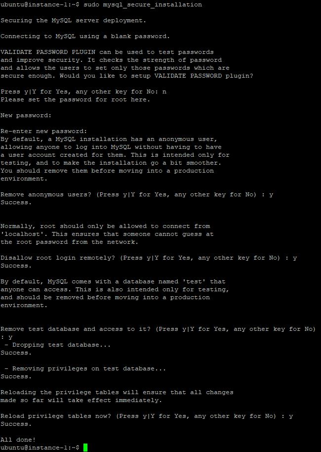 sudo mysql_secure_installation