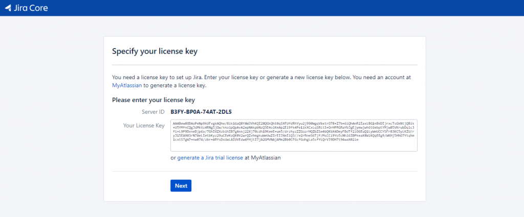 Jira - License Key