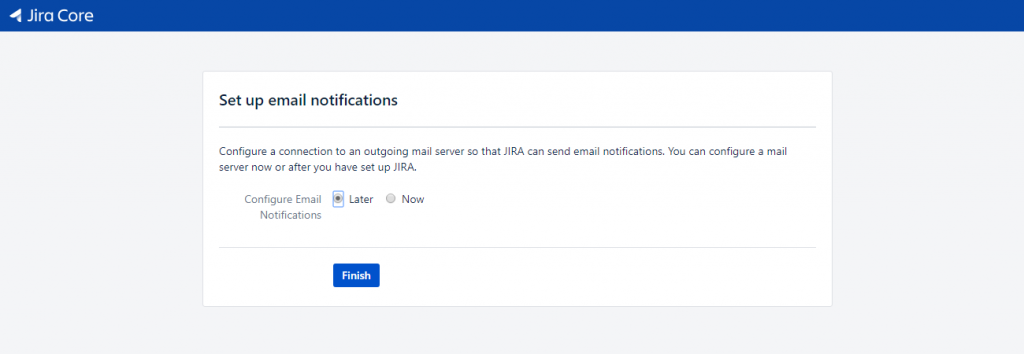 Jira - Set-up Email Later