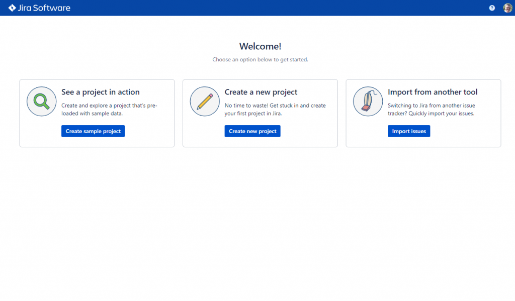 Jira - starting options