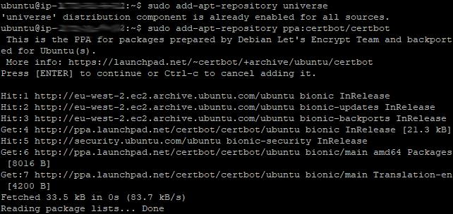 Certbot Install 02