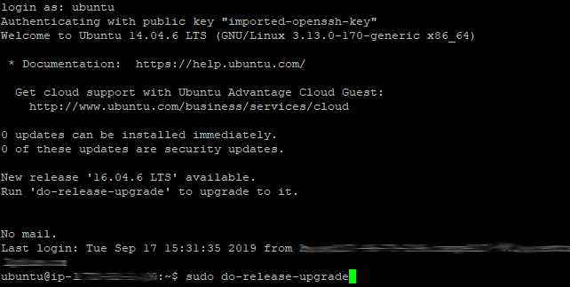 Ubuntu 14.04 to 16.04 LTS - 01