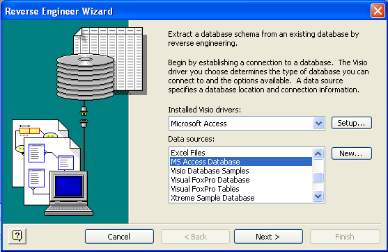 Visio DB Reverse Engineering Wizard 1