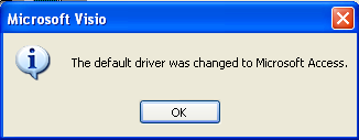 Visio Default Driver Changed Message