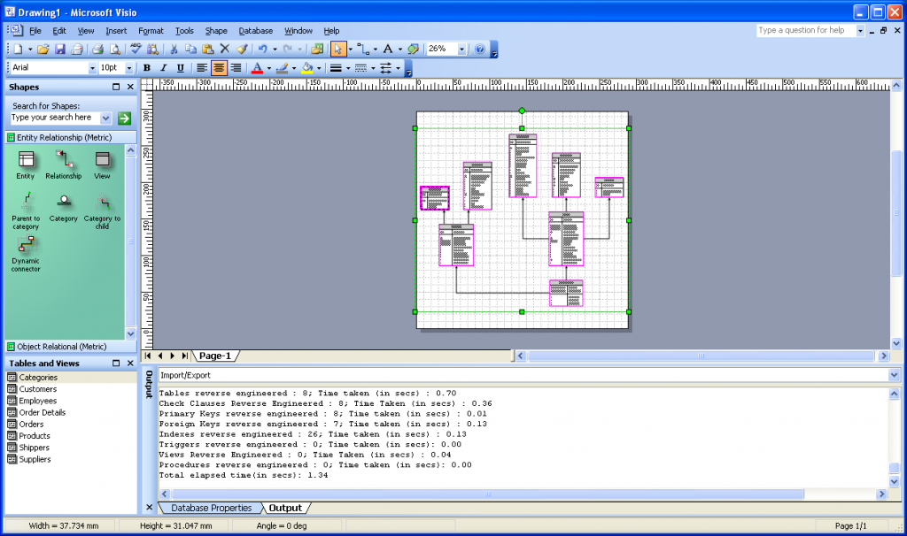 Visio DB Reverse Engineering Wizard 8