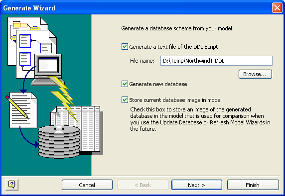Visio Database Generate Wizard 1