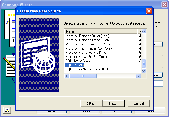 Visio Database Generate Wizard 2 - New 2