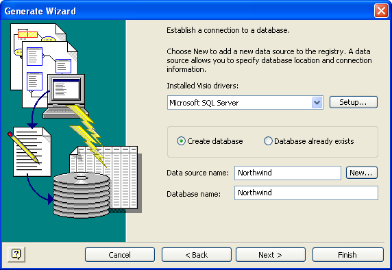 Visio Database Generate Wizard 3