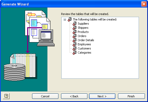 Visio Database Generate Wizard 5