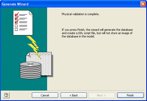 Visio Database Generate Wizard 6