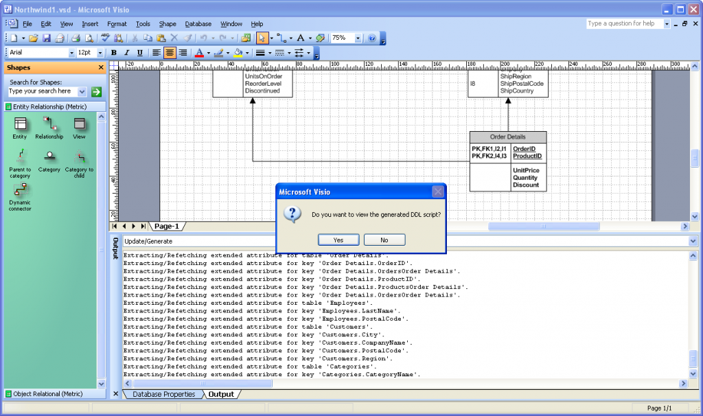 Visio Database Generate Wizard 8