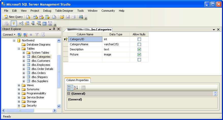 Visio Generated Database in SQL Server